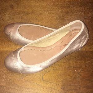 CORSO COMO Famenka Gold Ballet Flats EUC 8